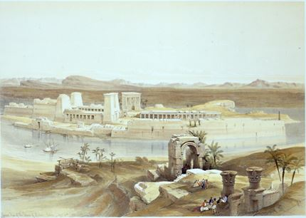 General view of the Island of Philae, Nubia