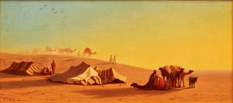 A halt in the Desert