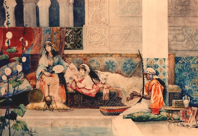 Relaxing in the Harem