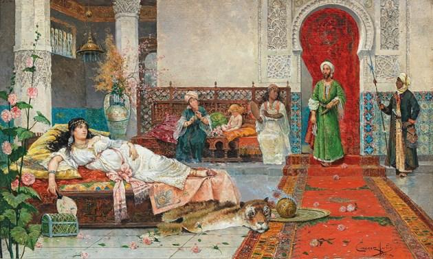 Interior Harem scene
