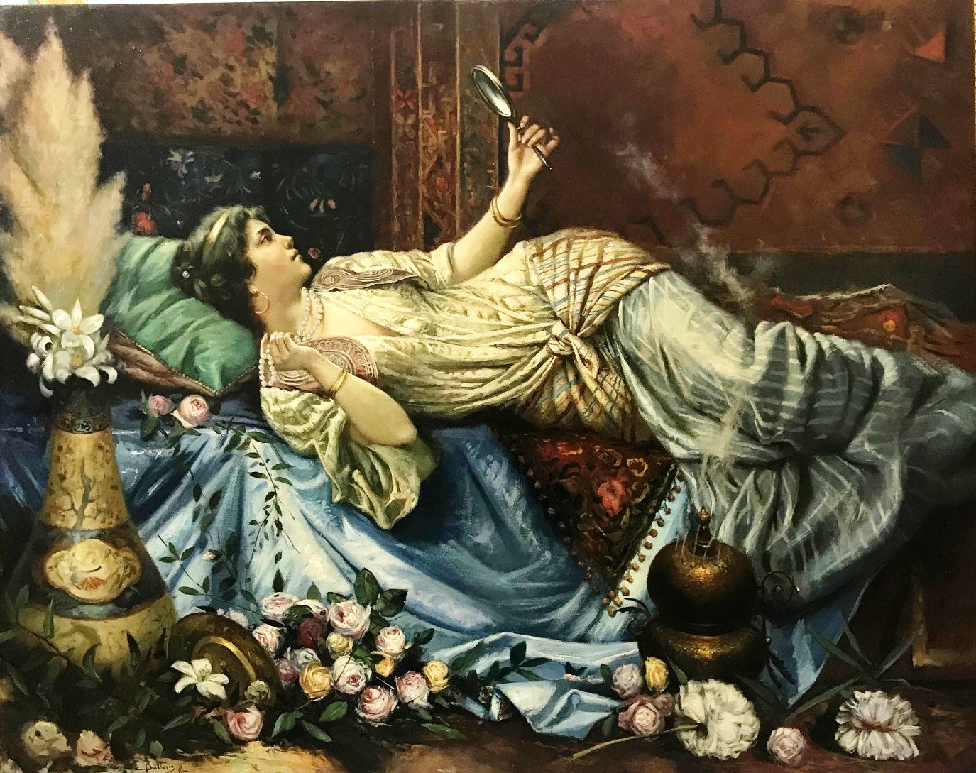 Odalisque with a mirror