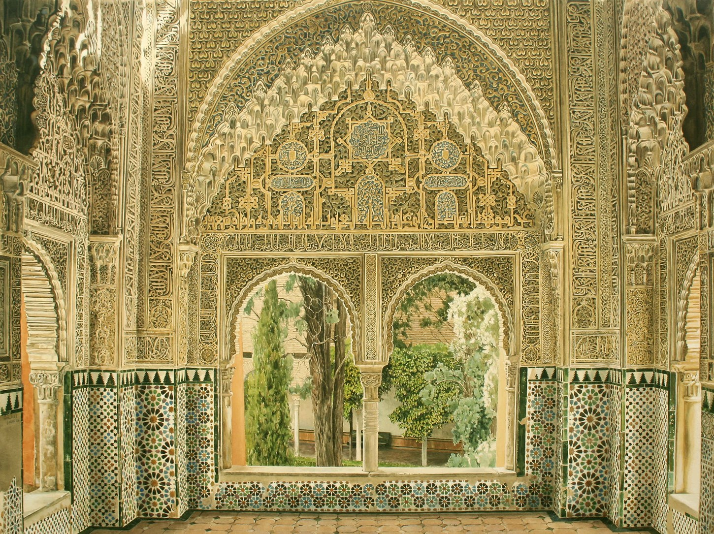 Window to the Lindajara (or Daraxa) courtyard, Alhambra