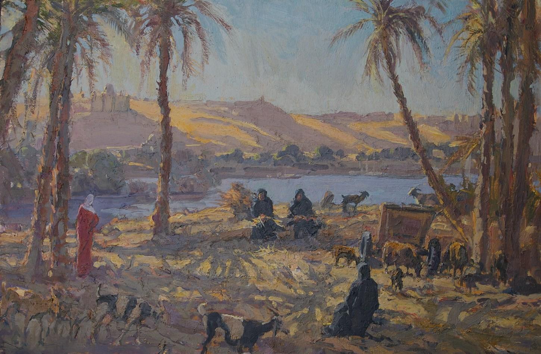 Stripping Palm Fronds, Elephantine Island, Aswan