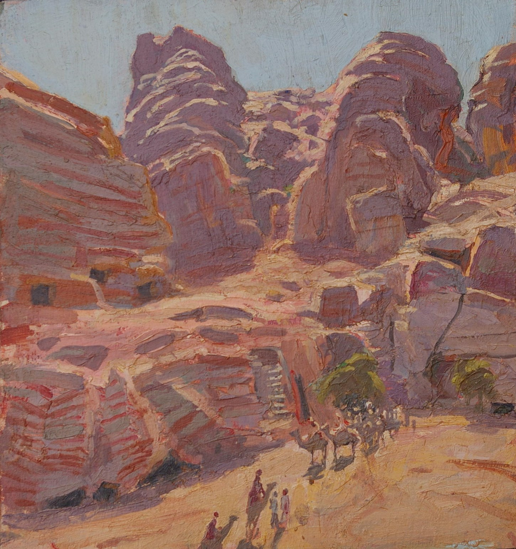 Near the Exit of the Siq, Petra