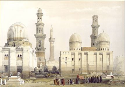 Tombs of the Mamlouks, Cairo, with an Arab Funeral