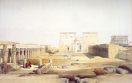 Grand Approach to the Temple of Philae, Nubia