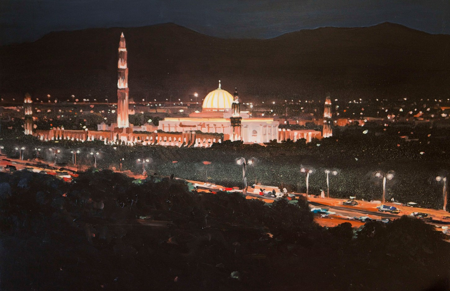 Sultan Qaboos Mosque at night