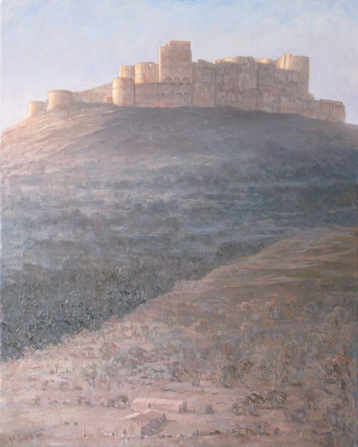 Sunrise on the Crac des Chevaliers