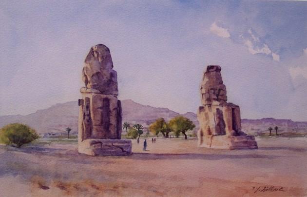 The Colossi of Memnon, Egypt
