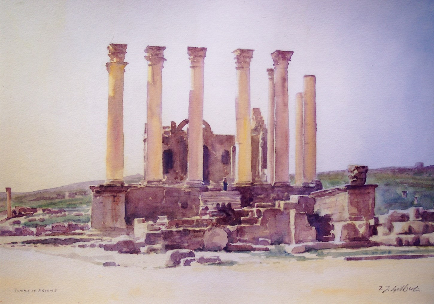 The Temple of Artemis, Jerash, Jordan